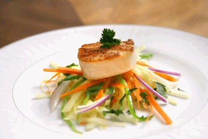Grilled Scallops with Fennel Slaw