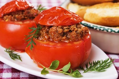 Tomatoes Filled with Meat