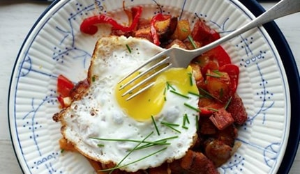 Corned Beef Hash with Fried Eggs