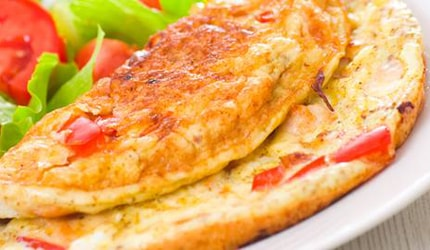 Cheese and Tomato Omelette