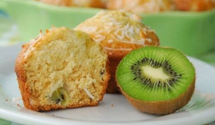 Kiwi and Coconut Muffins