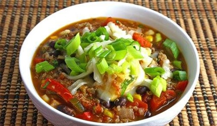 Healthy Black Bean and Quinoa Chili