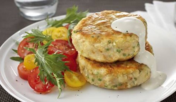 Tuna, Potato and Garlic Cakes