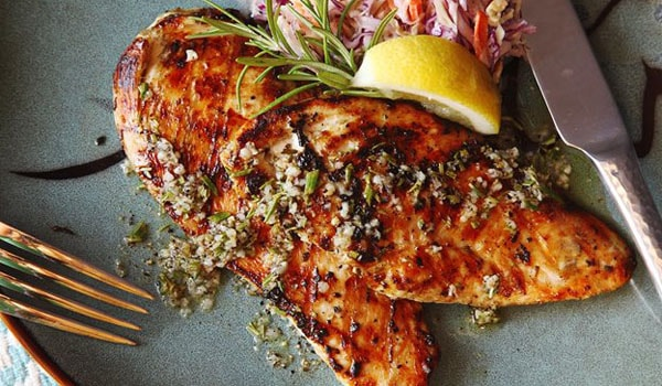Grilled Chicken Cutlets With Rosemary, Garlic, and Lemon