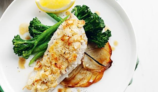 Almond and coconut crusted fish