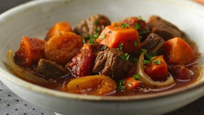 Slow-Cooker Beef and Sweet Potato Stew