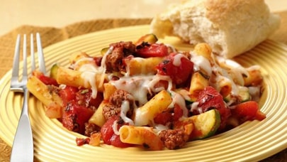 Baked ziti with roasted tomatoes